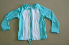 CAT & JACK Lighteweight Jacket Size 3T Aqua w/White Front and Back Panels