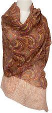 Pashmina Schal scarf stole Wolle Seide wool silk bedruckt wool silk printed
