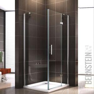 Duschkabine 403 Duschabtrennung Dusche Rechteck NANO ESG-Echtglas 8mm Glas 195cm