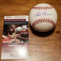 Red Sox Fred Lynn Autographed OMLB. w/JSA COA