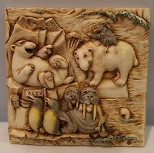 NIB Harmony Kingdom Picturesque Tile Figurine Noah's Park Glacier Falls #PXNE3