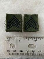 Authentic US Army Sergeant SGT E5 Insignia Rank BDU OD Green Insignia Patch