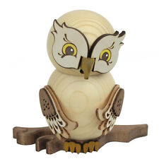Wooden Owl Whimsical Made In Germany Incense Burner Smoker