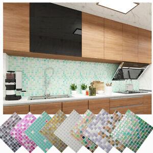 Waterproof Self-Adhesive 3D DIY Wall Stickers Wall Tile Mosaic Vinyl Wall Decal