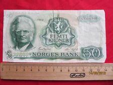 Norwegen - Norway 20 Femti Kroner 1983 - Kronen Norges Bank