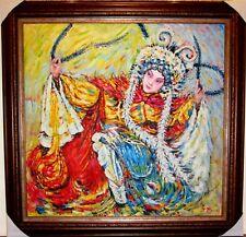 Abstraktes Ölgemälde, ÖlbildChinesische Oper,Neu mit Rahmen124cm x122 cm