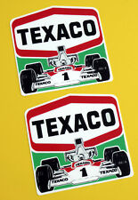 Vintage Classic 'TEXACO' Mclaren M23 1970's HISTORIC  F1 retro style stickers
