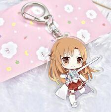 Sword Art Online Anime SAO Chibi ASUNA Acrylic Keychain Charm Art Figure Pendant