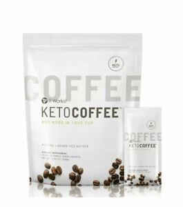 IT WORKS KETO COFFEE 15 PACKETS WITH MTC OIL, GRASS FED BUTTER, COLLAGEN, NEW!!!