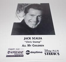 Jack Scalia Autograph Reprint Photo 9x6 All My Children 2002 Dallas Remington