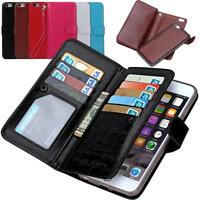 9 Card slot Magnetic Flip Cover Leather Wallet Case Fr Apple iPhone 6/6S 6S Plus