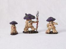 """Mushrooms""-Set of 3-Dark Heaven Bones-ReaperD&D-Custom Painted Pizzazz"