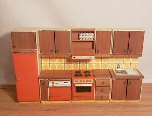 Dollhouse Miniature 4 Piece Lundby Retro Kitchen Set