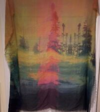 SHEER Large Scarf Photo Landscape Scarf Wrap Wearable Art 54 in. SQ