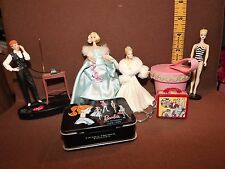 LOT of 7 HALLMARK ORNAMENTS TALKING I LOVE LUCY, HAPPY DAYS & MOSTLY BARBIE, EUC