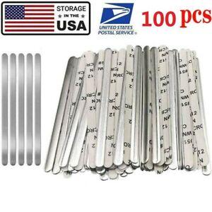 100pcs Aluminum Metal Strips Nose Bridge Wire for DIY Mask Bracket Sewing Crafts