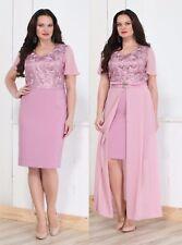 Abendkleid Big Size 2 Teille Gr.36,38,40,42,44. Farbe Rosa