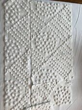 New listing wh pieces candlewick hand tufted chenille 3 pcs healthy and clean 1900's