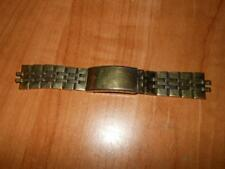 VINTAGE ORIGINAL GOLD ACCUTRON TUNING FORK LOGO WATCH BAND STAINLESS STEEL