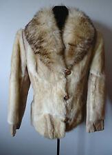 Vtg 70s Womens Big Collar Fur Leather Jacket Super Glam Rekroom Fav