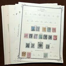 Big CEYLON / SRI LANKA CV $500+ Stamp Collection Mint&Used Lot Scott album pages
