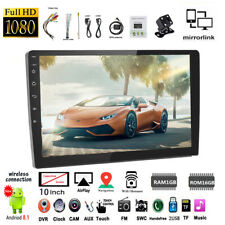 10''2 Din Android GPS Car Radio Airplay+Camera Touch FM Wifi BT iOS Mirror Link