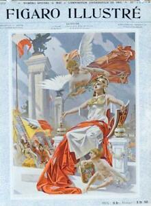 ORIGINAL VINTAGE POSTER ATHENA BY LEFTWICH FOR FIGARO ILLUSTRE 1898