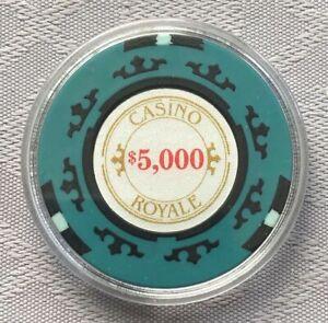 JAMES BOND 007 - CASINO ROYALE $5,000 POKER CHIP CARD GUARD/PROTECTOR