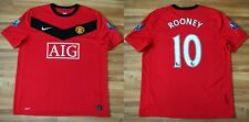 MANCHESTER UNITED HOME FOOTBALL SHIRT JERSEY NIKE 2009-2010 ADULT ROONEY LARGE
