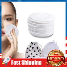 16 PCS Rounds Reusable Makeup Remover Pads Organic Bamboo Cotton Face Cleansing