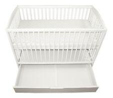 Babybett Kinderbett Wiegebett 120x60 Weiß + Steppmatratze