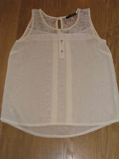 LADIES BLOUSE,  CREAM CHIFFON TYPE TOP, SIZE 12,  FROM ATMOSPHERE