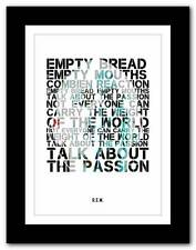 More details for r.e.m.- talk about the passion ❤ song lyrics typography poster art print - a1 a2