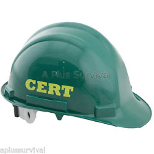 Green Hard Hat with C.E.R.T. Lettering
