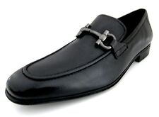 Salvatore Ferragamo Rigel mens black loafers shoes 12 D(M) US made in Italy