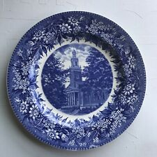 Denison University Plate Swasey Chapel Wedgwood blue White