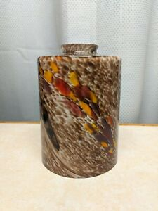 """Westinghouse Lighting Brown Swirl Cylinder Lamp Shade 6 1/2"""" tall 4 3/4 wide"""