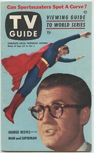 Superman George Reeves TV Guide September 25 1953 V. 1 # 26 original