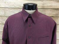 New John Henry Dress Shirt LS Men's 16 1/2 X 32/33 Maroon Red NWT