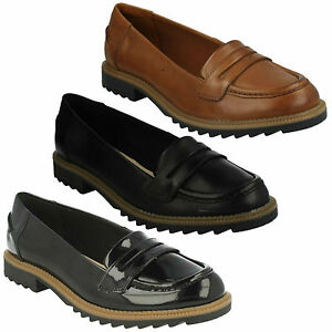 GRIFFIN MILLY LADIES CLARKS SLIP ON LOW HEEL CASUAL FORMAL LOAFERS SHOES SIZE