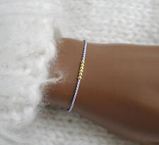 Wunscharmband Perlen auf Seide Freundschaftsarmband Minimalist Wish bracelet