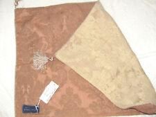 ETHAN ALLEN Damask Decorative Pillow Cover Standard Sham Gold Salmon New