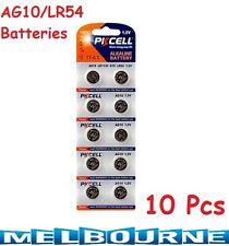 10 pcs AG10 GP189 SR54 LR1130 L1131 1.5V Alkaline Button Cell Battery PKCell