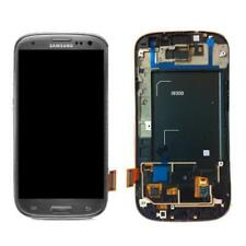 DISPLAY TOUCH SCREEN ORIGINALE SAMSUNG GALAXY S3 i9300 VETRO NERO GRIGIO SCHERMO