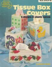 Tissue Box Covers in Plastic Canvas American School of Needlework Bk 3019 (S-19)