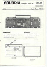 Grundig Service Anleitung Manual Party Center 700 (GB)   B369