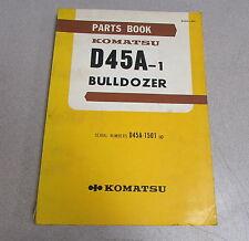 Komatsu D45A-1 Bulldozer Parts Book Manual D45A-1501 1975