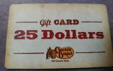 2 cards $25 CRACKER  BARREL each restaurant  Gift card $50 value