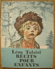 Lev Tolstoi Story for children on French Pakhomov illustrated book 1980 Tolstoy