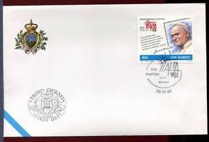 "32785) SAN MARINO 1998 FDC ""Uff. San Marino"" ITA'98"